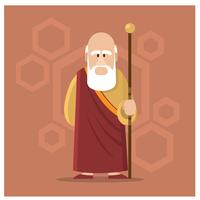 Personagem de guru masculino vetor