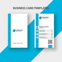 modelo de cartão de visita vertical moderno. design de papelaria, design plano, modelo de impressão, ilustração vetorial. vetor
