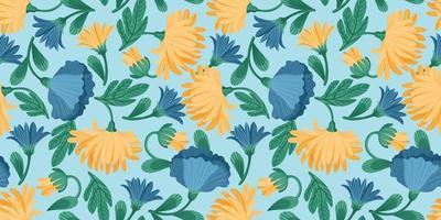 padrão floral sem emenda. desenho vetorial para papel, capa, tecido, decoração de interiores e outros usos vetor