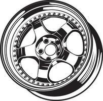 ilustração de roda de carro para design conceitual. vetor