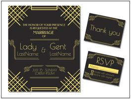 Vetor de convite de cartão de casamento