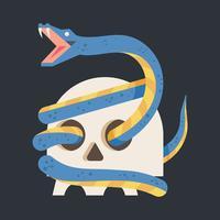 Cobra, vetorial, ilustração vetor
