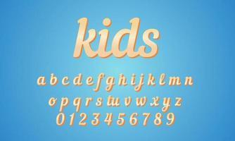 vetor de fonte estilizada do alfabeto