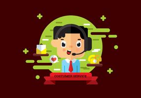 Vetor de personagem de serviço ao cliente