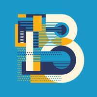 tipografia da letra B vetor