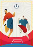 Duelo de jogadores espanhóis de futebol vetor