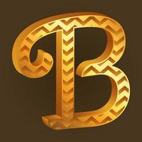 letra B tipografia fundo vetor