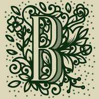 Letra B Tipografia vetor