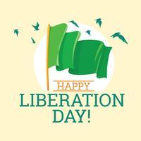 Cartão feliz do dia da libertação vetor