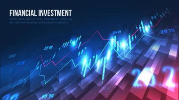 mercado de ações ou gráfico de negociação forex no conceito gráfico.