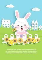 cartão do dia de páscoa