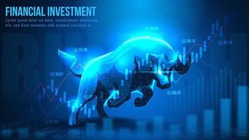 arte conceitual de investimento financeiro otimista
