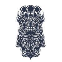 cultura balinesa indonésio tinta ilustração arte vetor