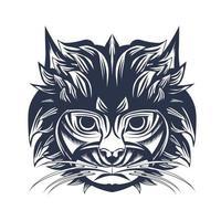 arte de ilustração a tinta de gato indonésia