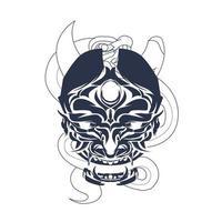 satan snake indonesia com tinta arte de ilustração vetor