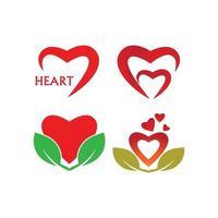 vetor de modelo de logotipo de coração