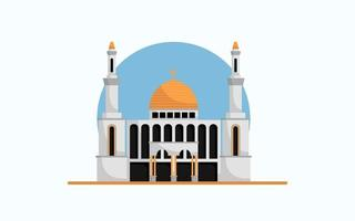 construção de mesquita para adoração vetor