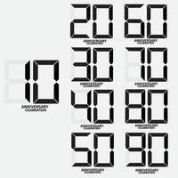 números digitais para aniversários vetor