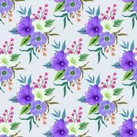 padrão sem emenda com ilustração de design floral botânico colorido. vetor