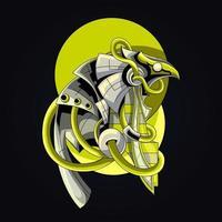 ilustração de arte de horus egito vetor