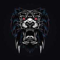 ilustração da arte do tigre vetor