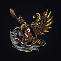ilustração de arte cultural indonésio vetor