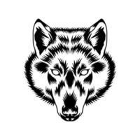 arte vetorial e design gráfico da cabeça de lobo vetor