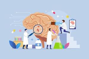 neurologia tratamento médico moderno conceito de design de processo vetor