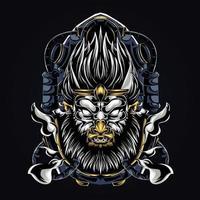 ilustração de arte de macaco vetor