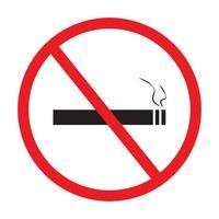 nenhum ícone de sinal de fumar no vetor de fundo branco.
