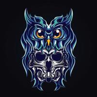 ilustração da arte do diabo da coruja