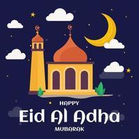 ilustração de comemoração de eid al adha feliz