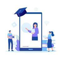 conceito de ilustração de cursos online vetor