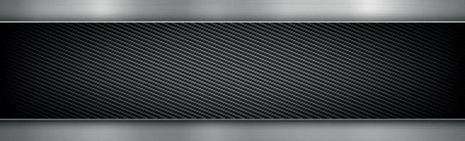 fundo abstrato de textura de metal e fibra de carbono - ilustração vetorial vetor