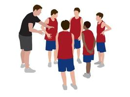 coaching em ilustração vetorial gráfica vetor