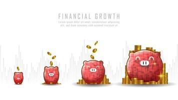 arte conceitual de crescimento financeiro vetor