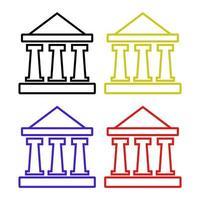 banco definido em fundo branco vetor