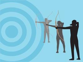 esporte com arco e flecha em ilustração vetorial gráfica vetor