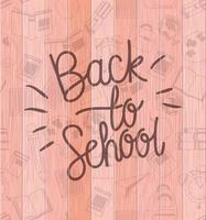 material escolar de volta ao padrão escolar vetor