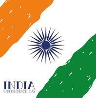fundo da bandeira indiana do dia da independência vetor