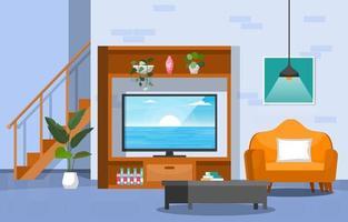planta de casa tropical planta decorativa verde na ilustração da sala de estar