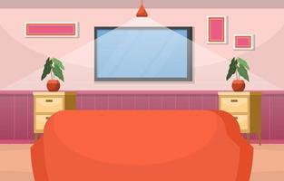 planta de casa tropical planta decorativa verde na ilustração da sala de estar vetor