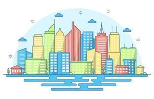 ilustração do horizonte da cidade vetor