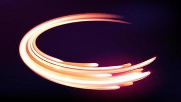 linhas curvas de luz de néon mágica, fundo abstrato. ilustração vetorial