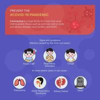 prevenir o plano de fundo pandêmico covid-19 vetor