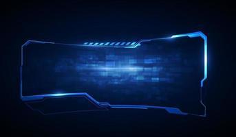 Elementos de tela da interface do usuário futurista hud, ui, gui. tela de alta tecnologia para videogame. projeto de conceito de ficção científica. vetor