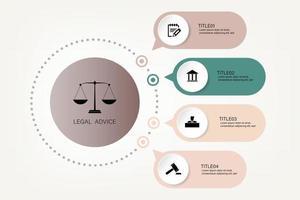 informações legais para a justiça lei veredicto caso martelo legal martelo de madeira símbolo do leilão do tribunal do crime. infográfico vetor