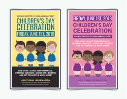 Cartazes do dia das crianças do vetor