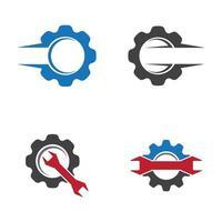 conjunto de imagens de logotipo de serviço de engrenagem vetor