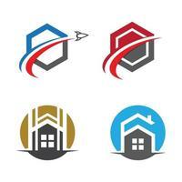 conjunto de imagens do logotipo da casa vetor